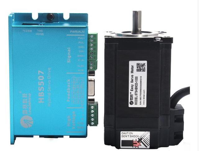 Leadshine HBS507 ac servo motor driver + 3 phase 2.0N.m 573HBM20-1000 ac servo motor with encoder cable