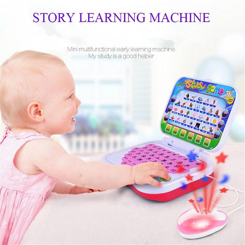 Дети компьютер история Обучающая машина Младенческая китайский/английский чтения машину с Мышь дети Обучающая машина образование игрушки