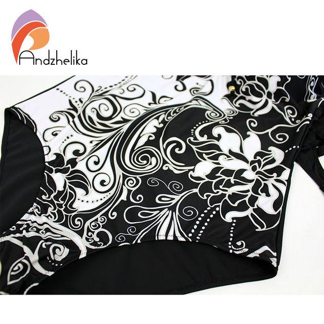 L-7XL Plus Size Swimwear Sexy One Piece Women Swimwear White Floral printing High Waist  bodysuit Swimsuit  monokini TG1051A