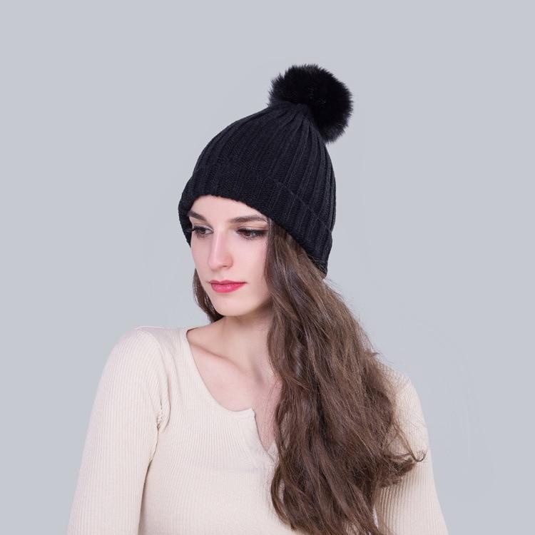 2016 thickening knitting hat women winter earmuffs thermal couple cap