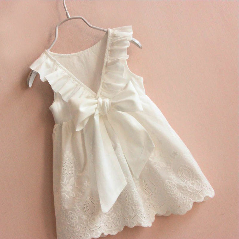 Toddler Infant Kids Child Baby Girls Lace Dress Princess Party Pageant Holiday Tutu Dresses White 2-8T toddler kids baby girls princess dress party pageant wedding dresses with waistband