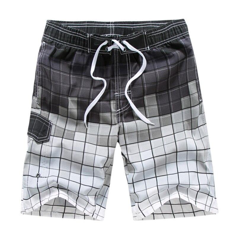 Hot Summer Board Shorts Men Quick Dry Surfing Beach Shorts Hawaiian Holiday Vacation Elastic Waist M-Board Shorts