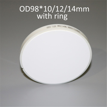 1 Piece ST/HT OD98*10/12/14mm Dental Lab Material Zirconia Block With Plastic Ring Outside For Open CADCAM Milling System