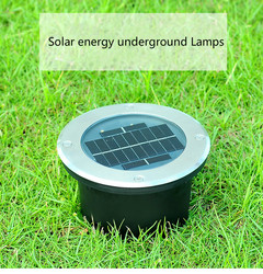 Solar outdoor wodoodporna wbudowana lampa led okrągła lampa do wkopania paznokci lampa do paznokci