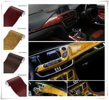 Filme interior do carro grão de madeira papel de cor brilhante superfície do console para Toyota VIOS LAND CRUISER PRADO RUSSA highlander