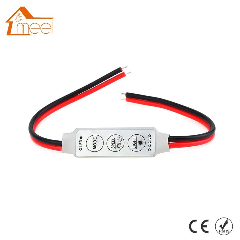 Dimmer LED Strip RGB Controller DC 12V 24V Mini Dimmer LED Single Color Controller for 5050 3528 5730 LED Strip Light стоимость