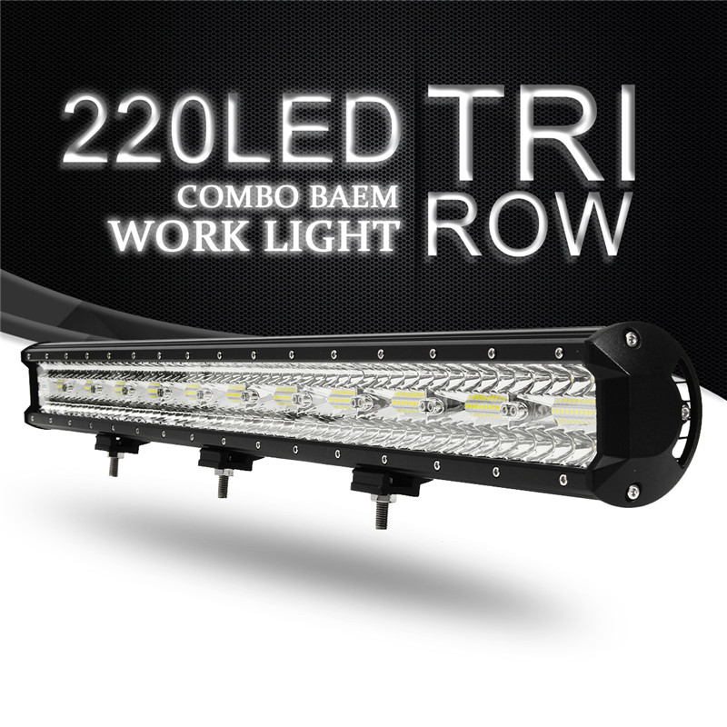32Inch 660W 220 LED Work Light Bar Flood Spot Combo Driving Lamp Waterproof 6000K LED Work Light For SUV ATV Offroad 4WD Truck 17 inch 108w led light bar spot flood combo light led work light bar off road truck tractor suv 4x4 led car light 12v 24v