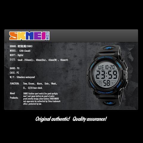 SKMEI Brand Children Watch Fashion Kids Watches Boys Alarm LED Digital Watch For Kids Children Student Waterproof Wristwatch Multan