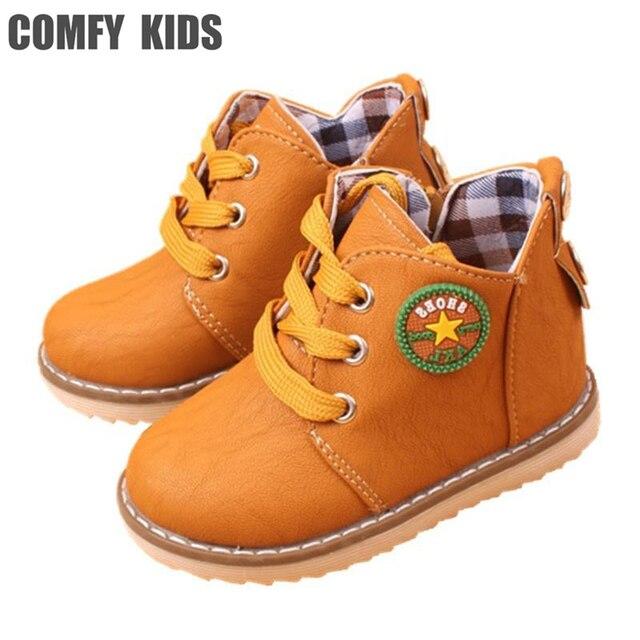 9bc1a9c62e201 Top Vente Hiver Chaud Bottes de Neige des Enfants Chaussures Printemps  Automne Filles garçons Bottes Plat