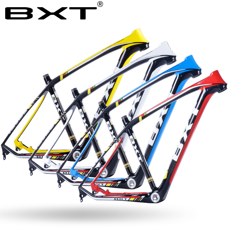 BXT t800 carbon mtb frame full suspension 29er suspension carbon fiber mountain bike 29 15.5 17.5 19 20.5 inch in Bicycle Frame 29er full suspension mountain bike toray carbon fiber mtb bicicleta bicycle frame ud matt bb92 165 38mm rear shock travel 110mm
