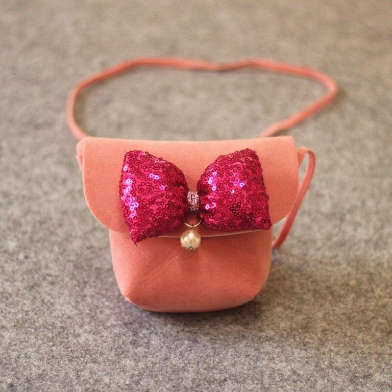 Из искусственного нубука принцессы с бантом Детские Школьные сумки Дети Посланник crossbody Деньги сумки для kindergaten для маленьких девочек
