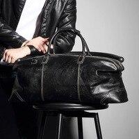 Кожаная Дорожная сумка мужская сумка большая емкость деловых поездок камера верхний слой кожи дорожная сумка