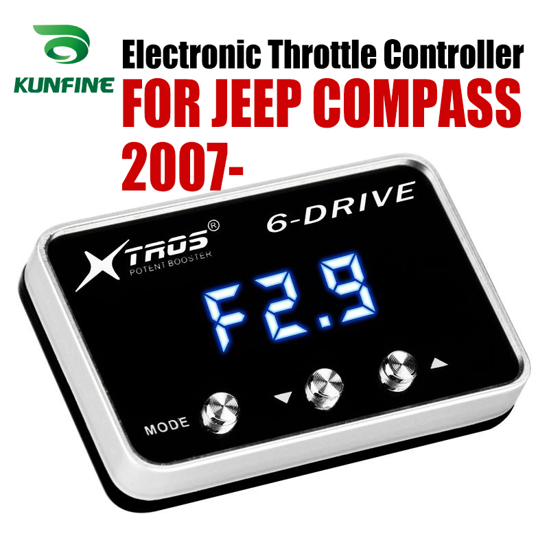Car Electronic Throttle Controller Racing Accelerator Potent Booster For JEEP COMPASS 2007-2019 Tuning Parts Accessory