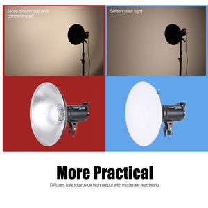 Image 2 - 41cm Beauty Dish Reflector Strobe Lighting for Godox Bowens Mount Speedlite Photogrophy Light Studio Accessory Aluminum Alloy