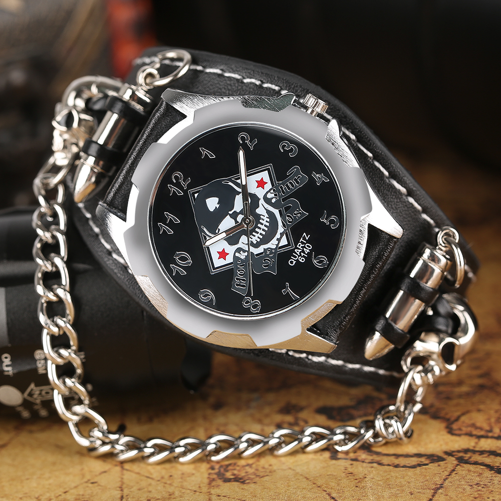 chain heavy silver analog white watch round watches men dial img classy addic for