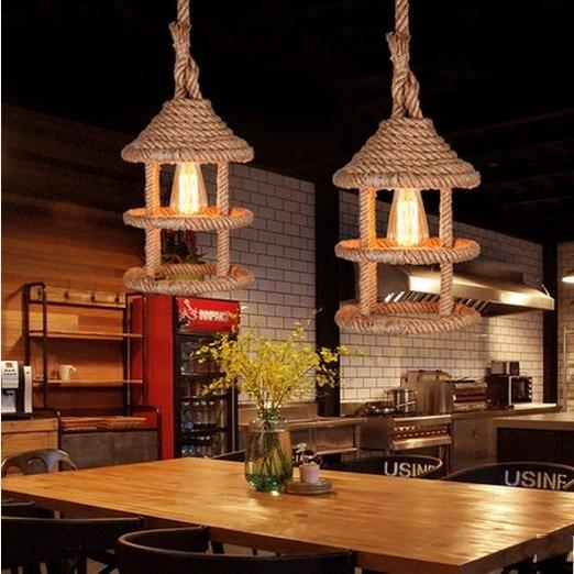 Aliexpress.com : Buy Nordic Loft Style Rope Droplight Edison ...