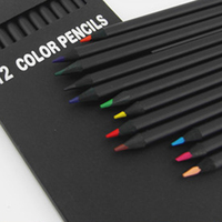 12 Pcs/Set High Quality Pencil Packaging 12 Different Colours Colored Pencils Kawaii School Black Wooden Pencils Standard Pencils