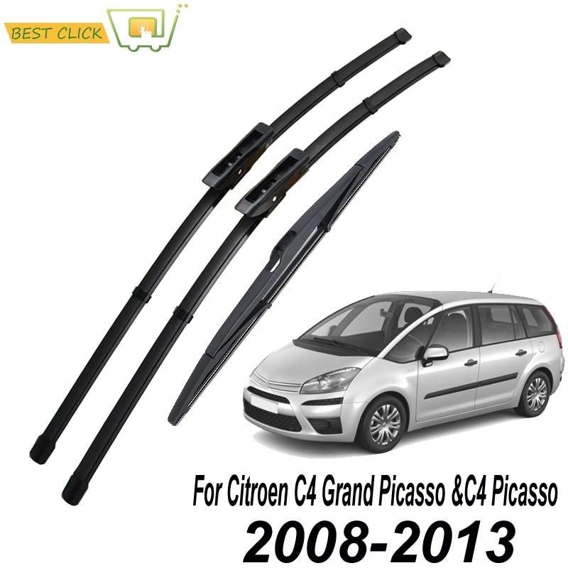 Misima Windscreen Wiper Blades For Citroen C4 Grand Picasso /C4 Picasso 2008 2009 2010 2011 2012 2013 Front Rear Window Set Kit