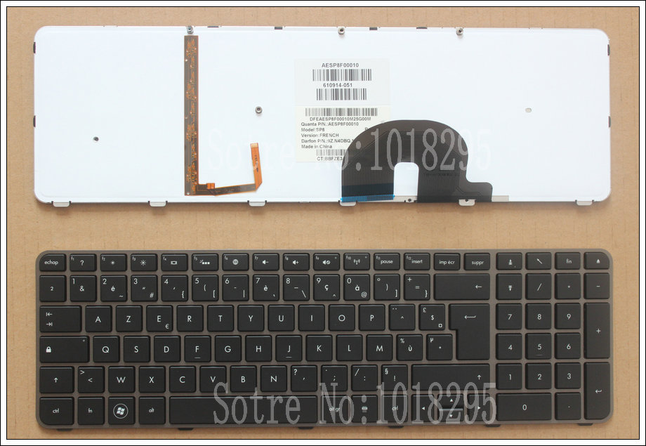 100% NEW For  HP Envy 17,17-2199EL, 17-2199EZ  17-1189EL, 17-1190CA  FR French laptop keyboard With backlight 610914-051 new russian for hp envy x2 11 g000 g003tu tpn p104 hstnn ib4c c shell ru laptop keyboard with a bottom shell