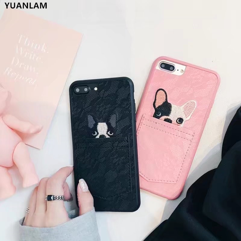 New Pocket cute dogs cover For iPhone 6 6s 6plus 6splus Cases Cute Animal Case for iPhone 7 8 plus...  iphone 7 cases with card holder | Top 10 iPhone 7 Wallet Cases – Do you need a full wallet replacement or something on the go? New Pocket cute dogs cover For font b iPhone b font 6 6s 6plus 6splus font