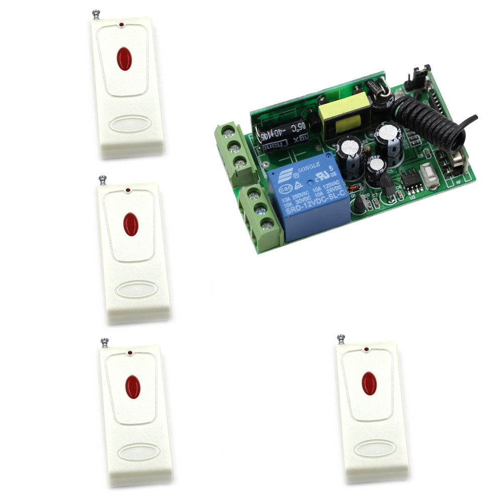 AC 85-250V 1CH Wireless Relay Remote Control Light Switch Radio Light Switch Remote Power ON OFF Wireless Receiver Transmitter ac 85v 250v wireless remote control switch remote power switch 1ch relay for light lamp led bulb 3 x receiver transmitter