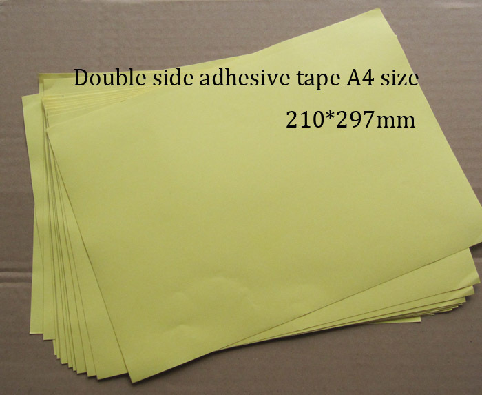 40 Sheets /lot Double Side Tape A4 Size Strong Adhesive Good For Hardcover,Photo Albums,Brochures,Menu,Folder,etc