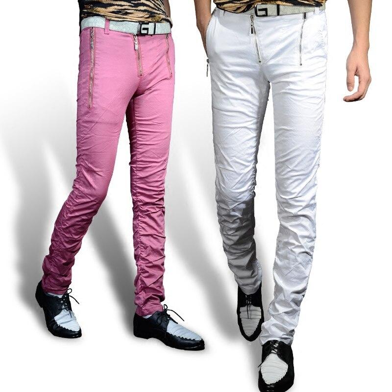 Для мужчин белый Брюки для девочек модные корейские узкие штаны Персональный стилист прилив Для Мужчинs Брюки для девочек красный Повседне... ...