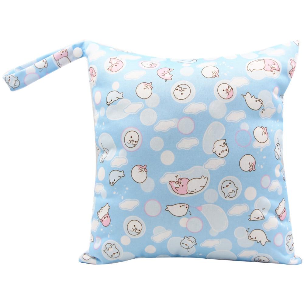 HTB1DbBvaozrK1RjSspmq6AOdFXao Cute Cartoon Striped Baby Diaper Bag Waterproof Travel Maternity Small Wet Bags for Mommy Storage Stroller Accessories 28*30cm