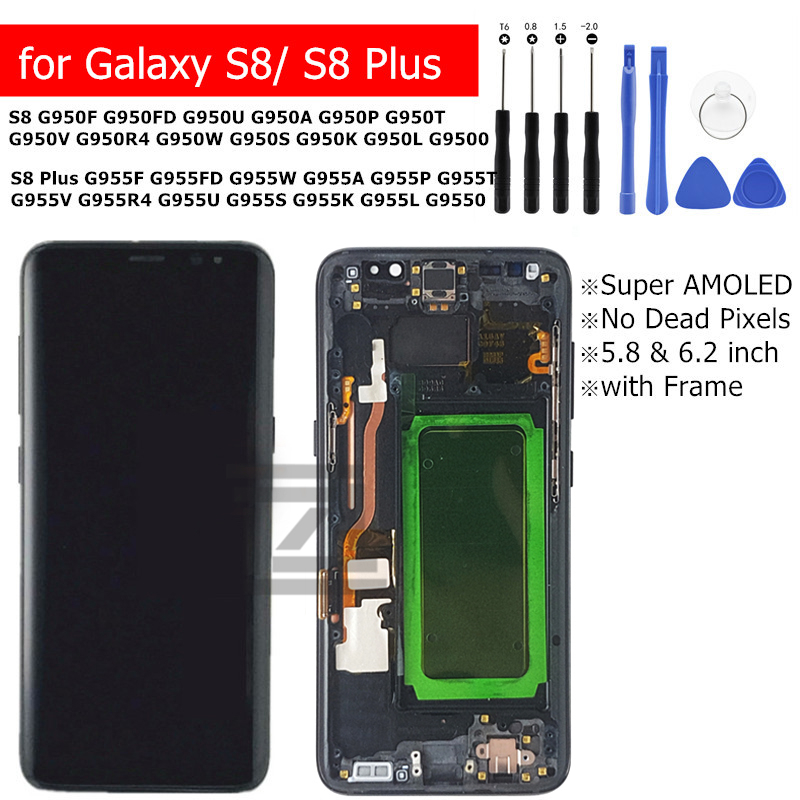 for Galaxy S8 S8 Plus LCD Display Touch Screen Digitizer with Frame Assembly for Galaxy S8