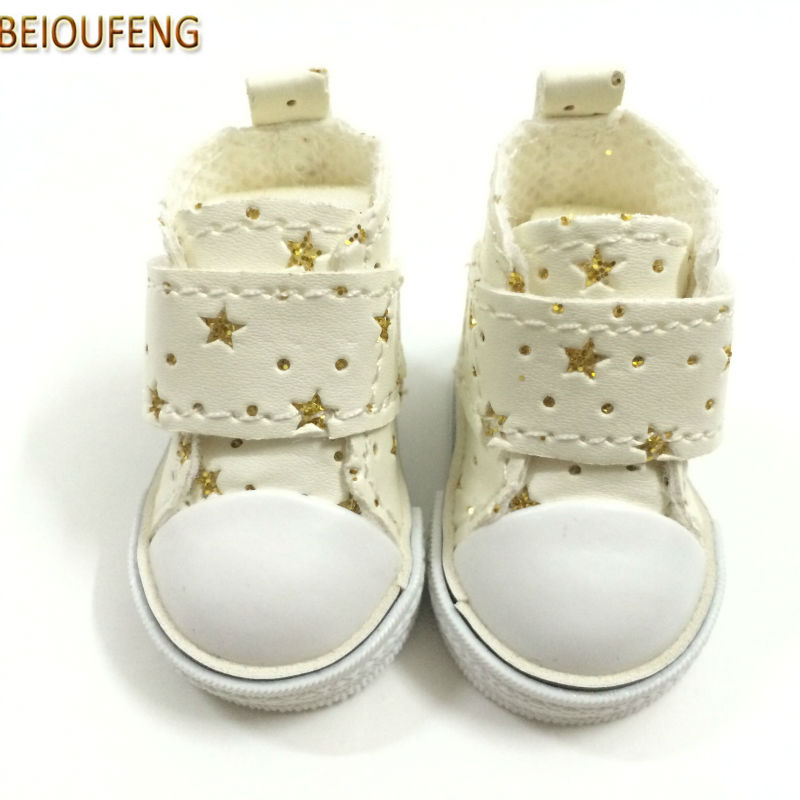 BEIOUFENG BJD Doll Footwear Sneakers Shoes for Dolls Accessories,5CM Kediki PU Leather Casual Sports Shoes for Dolls 6 Pair/Lot beioufeng 3 8cm fashion doll shoes for blythe doll toy mini gym shoes sneakers for dolls bjd doll footwear sports shoes 6 pair