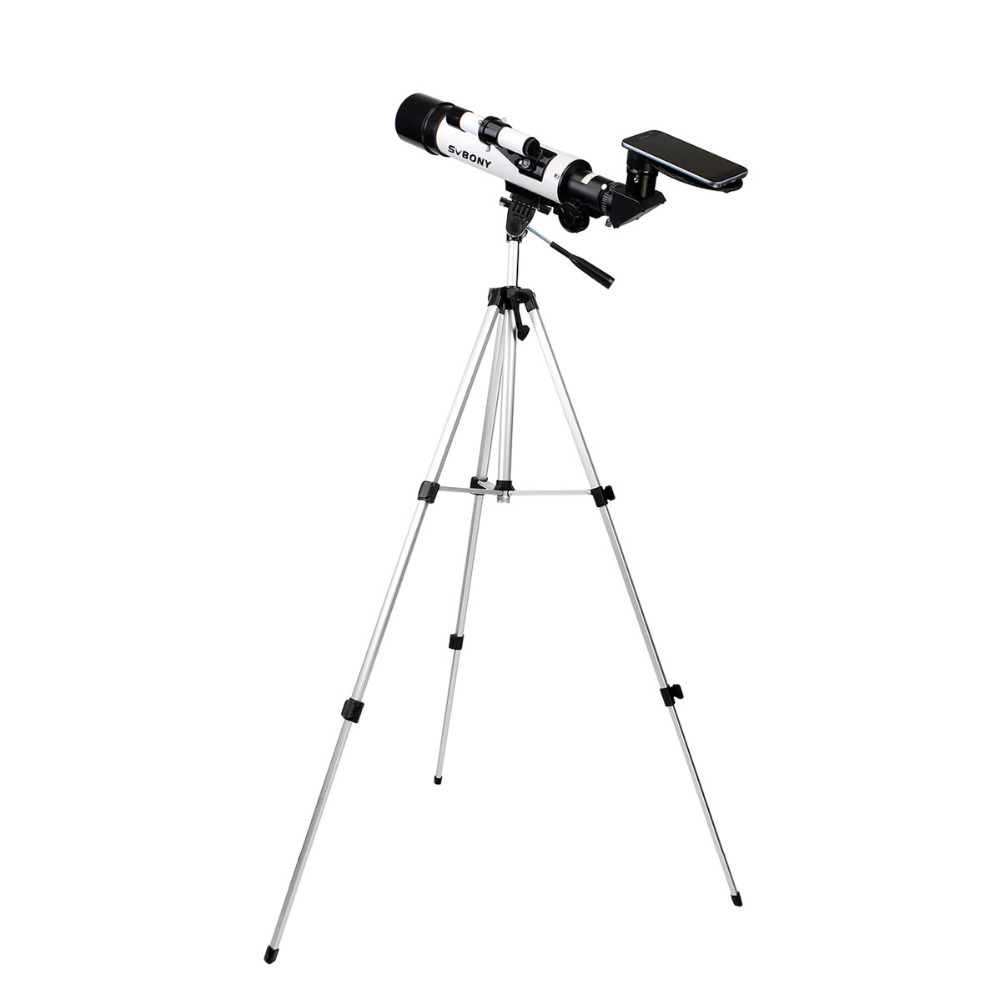 SVBONY SV25 Astronomy Telescope 60/420mm Refractor for Beginner School with Cell Phone Mount Adapter Binoculars Profession F9304 universal cell phone holder mount bracket adapter clip for camera tripod telescope adapter model c