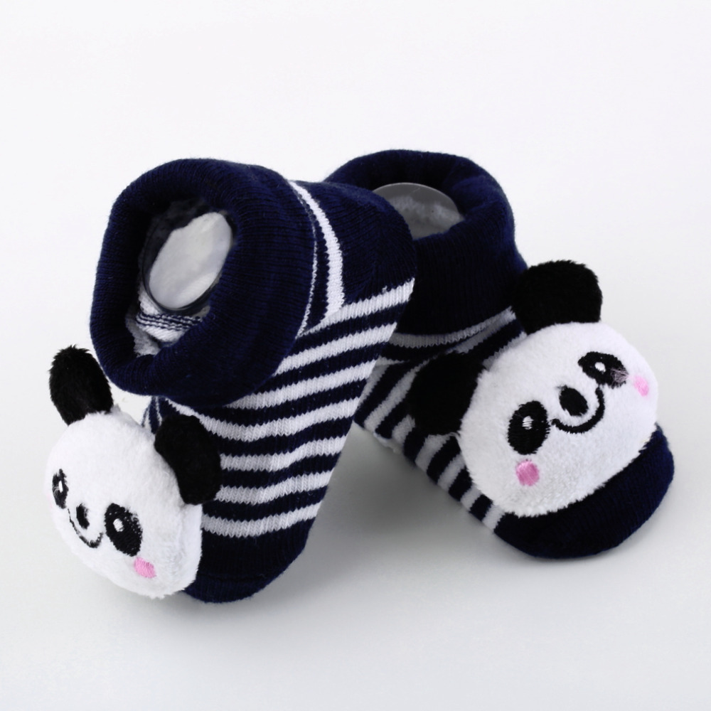 Hot Sales Cotton Cartoon Baby Socks For New Born Boys And Girls Kids Shoes Slippers Anti Skid Autumn And Winter 0-6 Month