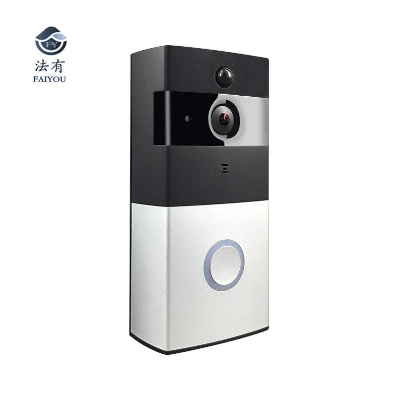 Low Power Consumption Wireless WIFI Doorbell Work With Alexa Video Door Bell Phone Door Remote Camera Monitor Viewer Security in Doorbell from Security Protection