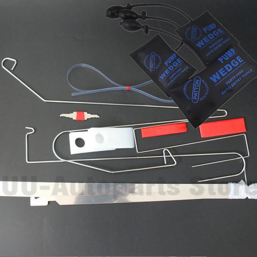 Emergency Car Door Lock Key Out Opening Unlock Tools 12Pcs Kit Air Pump+Wedge