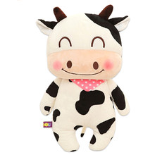 1pc kawaii Animal Series PP Cotton Stuffed Cow Dolls Soft Plush Toys Lovely cow stuffed doll Kids Gift new arrival(China)