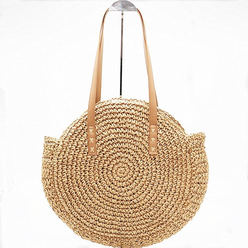 Luggage & Bags 2018 Round Straw Bags Women Summer Rattan Bag Handmade Woven Beach Cross Body Bag Circle Bohemia Handbag Bolsa Feminina Sturdy Construction