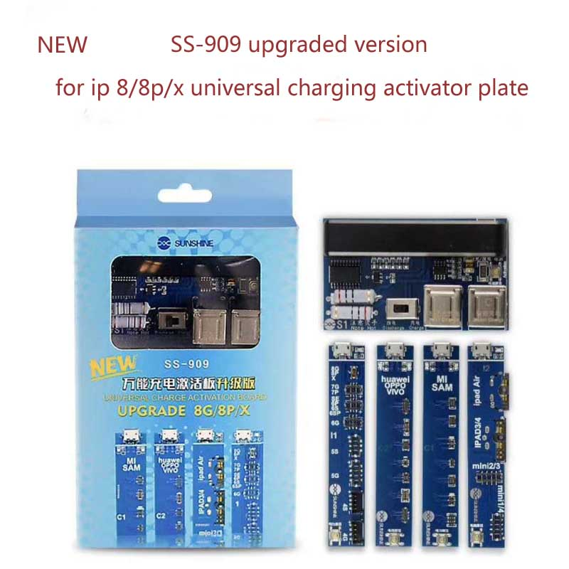 NEW SS909 Mobile Phone Universal Battery Activation Board Quick Charge PCB Tool With USB Cable For iPhone8/8p/x Phone Send Tool battery activation charge pcb board micro usb cable mobile phone repair tool for ipad ipad samsung xiaomi circuit test