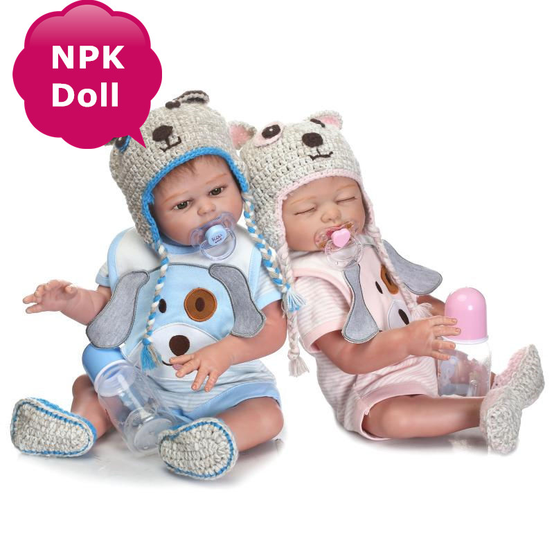 NPK New Bebe Reborn Babies Full Silicone Vinyl Realistic Baby Girl Doll Bonecas Bebe Reborn Doll With Clothes Kids Best Playmate