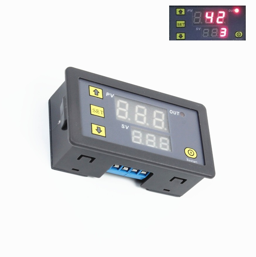 12V Timing Delay Relay Module Cycle Timer Digital LED Dual Display 0-999 hours 1pc multifunction self lock relay dc 12v plc cycle timer module delay time relay
