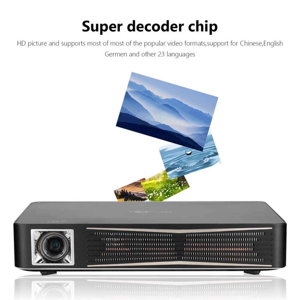 V3 LCD Projector Multi-functional 1280 x 800 Pixels Wireless Bluetooth 4.0 WiFi Android V4.4 1080P HD 3D Smart Media Play weshow v3 200lm 1280 x 800 rgb 3 color dlp hd mini 3d home projector w hdmi usb audio silver