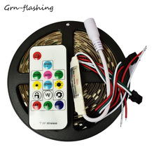 WS2812b SMD 5050 led strip light 5m 30led/m DC5V RGB led pixels strip  Dream Magic Color flexible tape light with controller