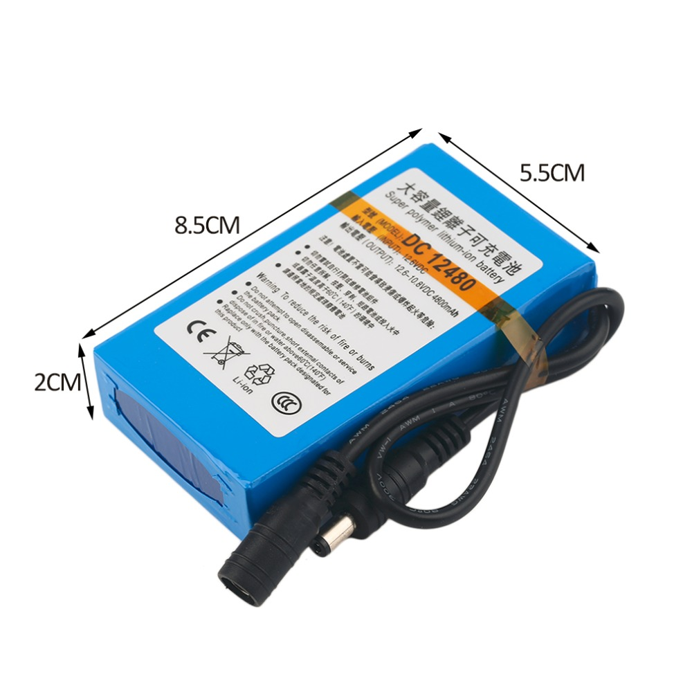 Compact Size DC12V 4800MAH Super Large Capacity Rechargeable Li-ion Battery Durable Use Battery For CCTV Camera
