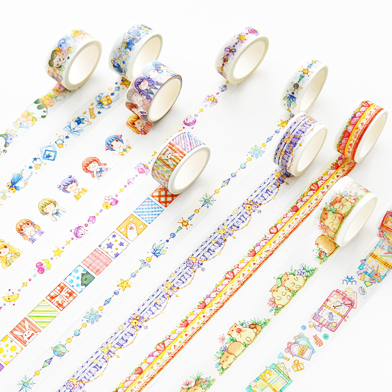 Cute Hamster Fruit Star Decorative Washi Tape Cartoon Fairy Tale Paper Masking Tapes Stationery School Supplies