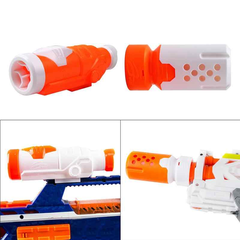 Новая горячая продажа игрушка прицельное приспособление игрушка глушитель прицеливания устройство совместимо с NERF серии Игрушечная модель пистолета