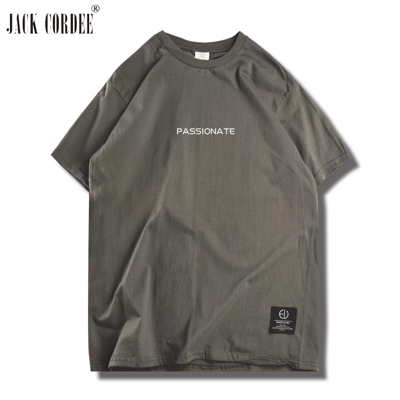 Jack cordee футболка Для мужчин лето письмо в полоску Футболка с круглым вырезом футболки уличной хлопок футболки Костюмы хип-хоп футболка Топы