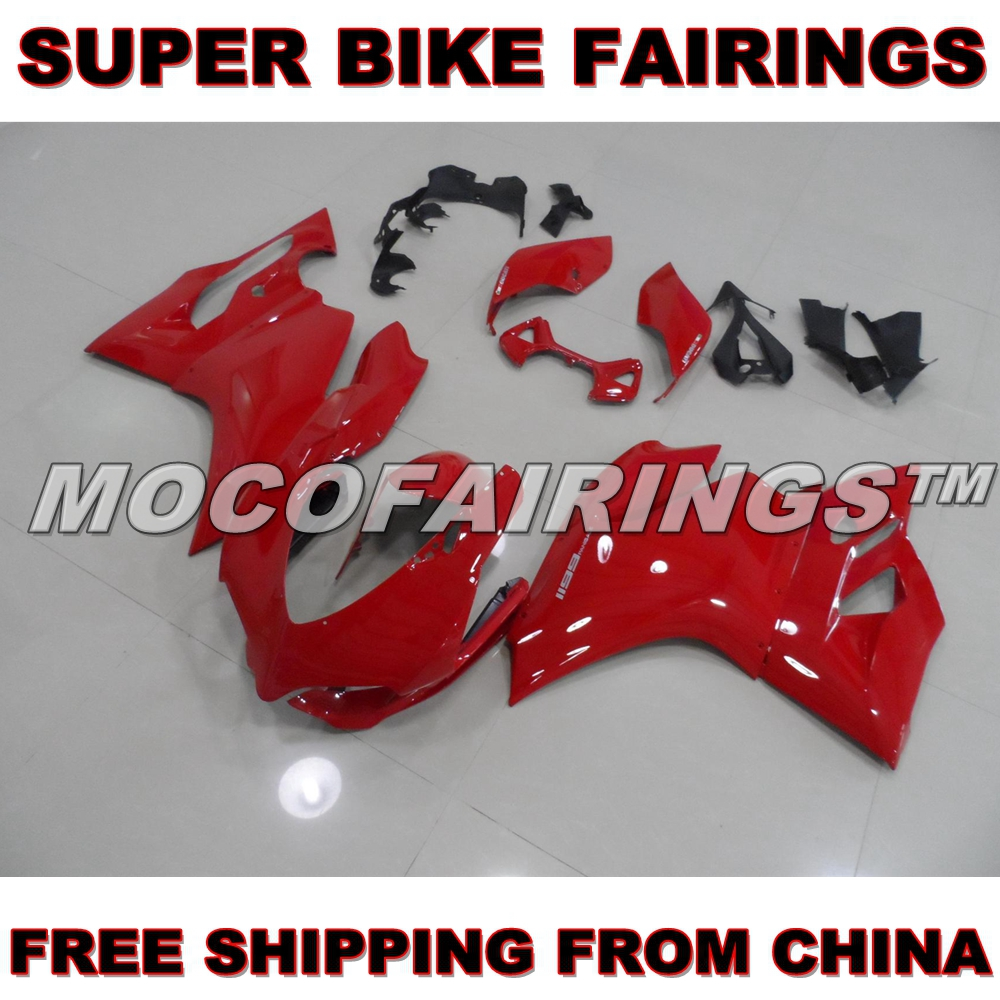For Ducati 2012 2013 1199 899 Panigale RED ABS Injection Mold Fairing Motorcycle Body Work Kits FREE SHIPPING