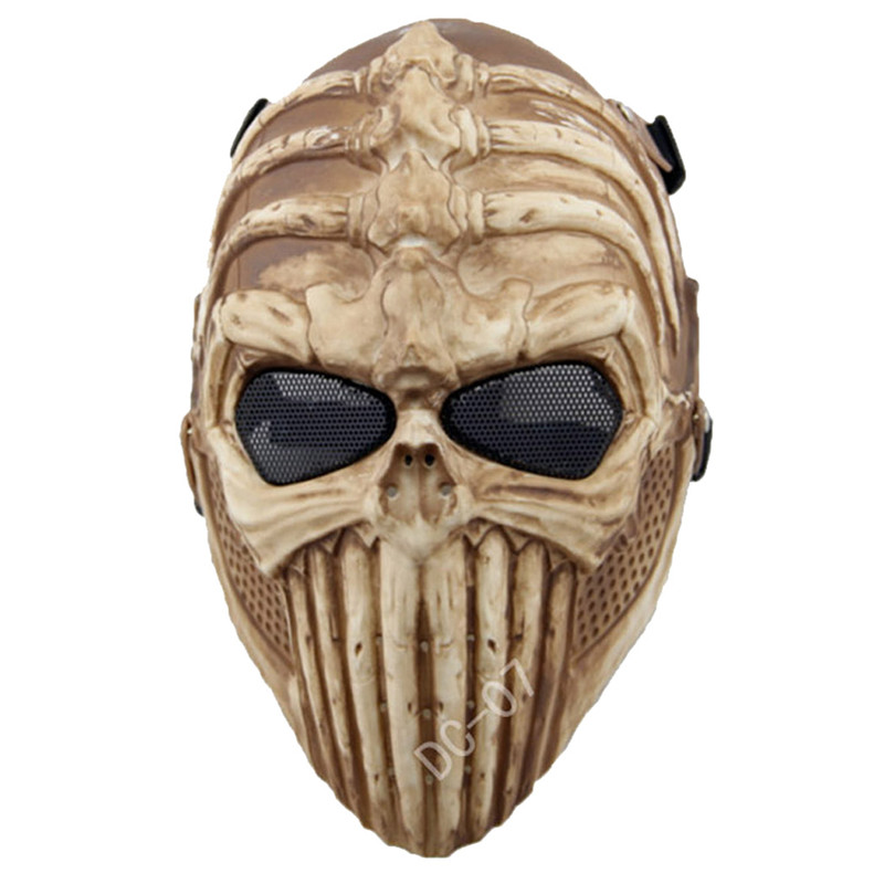 DC07 Spine Tingler Skull Skeleton Tactical Full Face Protective Airsoft Mask Military Army Paintball CS Wargame Halloween Party