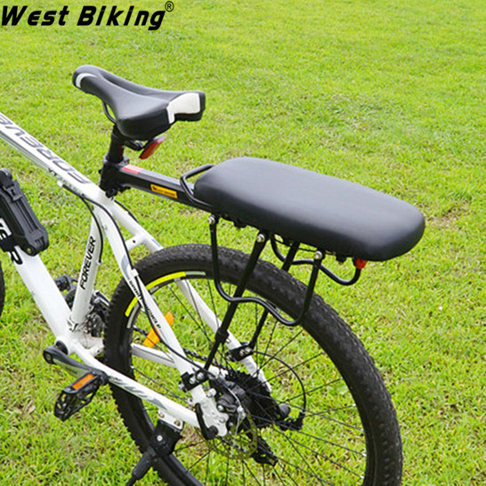 ФОТО Bike Outdoor MTB Road Alloy Shelf Cycling Load 50Kg High-strength Disc Brake/V-brake Bicycle Rear Rack + Back Carrier Pad Set