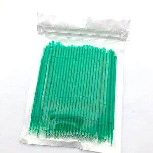 Image 1 - 100pcs Disposable Makeup Brushes Swab Microbrushes Eyelash Extension Durable Micro Individual Applicators Mascara Brush