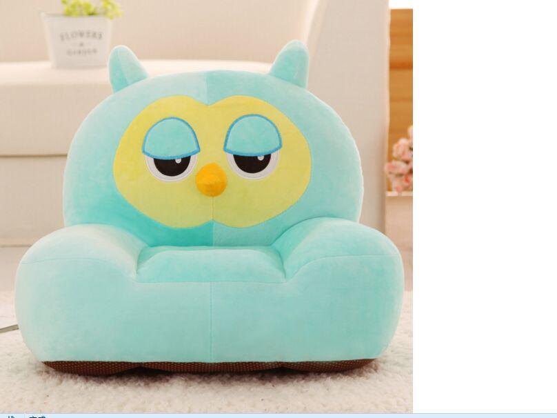 Peluche oreiller créatif hibou siège coussin environ 50x45 cm canapé coussin doux tatami coussin jouet décoration de la maison a1567